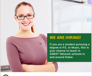 SABIS are looking for PE and Music Teachers