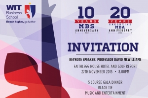 Executive MBA and MBS Anniversary Dinner