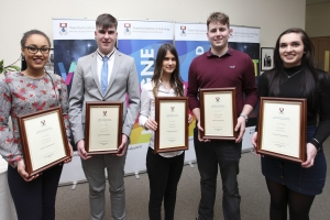 Five undergraduate President's Scholarships awarded at WIT