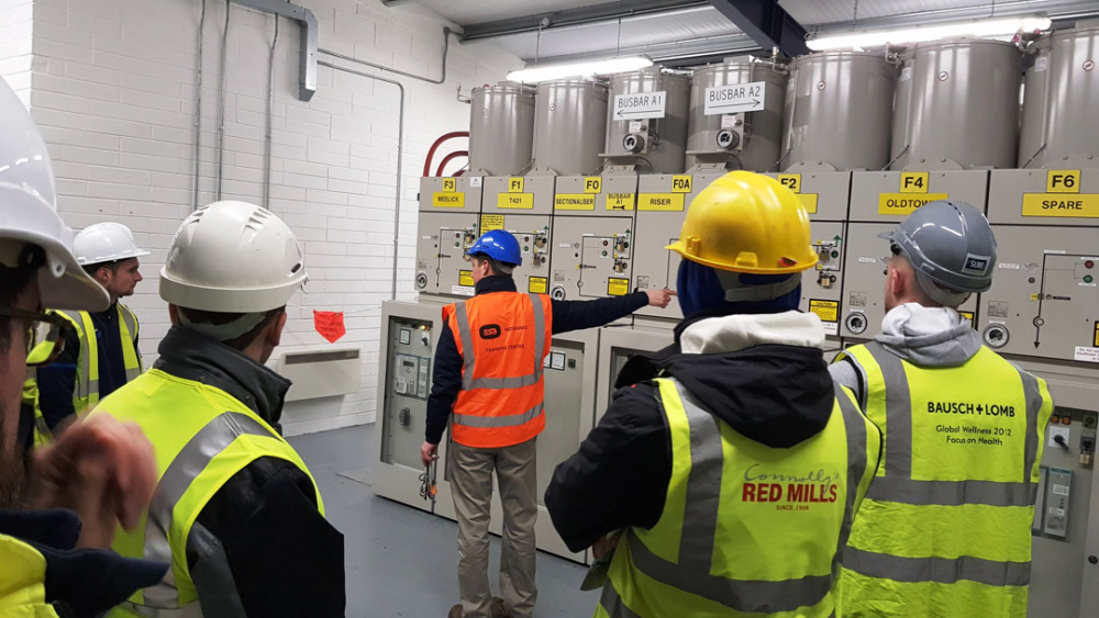 Electrical Engineering Students Visit Esb Training
