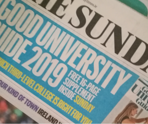 WIT top ranked institute of technology in Sunday Times Good University Guide