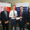 WIT (Waterford Institute of Technology) Agricultural Science Bursary. Pictured are Dr. Siobhan Walsh, Lecturer Agricultural Science WIT, John O'Connor of Teagasc, Ger Boland who is a Agri Science Student Year 2 from Nenagh, Bryan Doocey, Council
