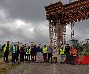 Quantity Surveying students visit the N25 New Ross Bypass on a Site Visit