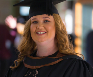 Caroline didn't get to finish school, now with a degree, nothing can stop her