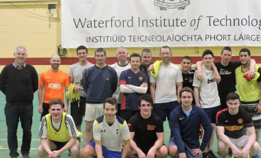 Cheque presented following annual Business School charity soccer fundraiser