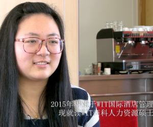 Chinese students studying Hotel Management at WIT