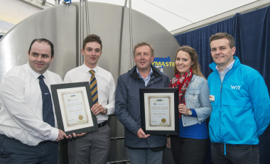 WIT graduates receive Dairymaster Awards at National Ploughing Championships