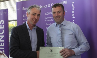Declan awarded for interesting findings and solutions