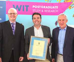 Dr Ray Griffin awarded for Excellence in Research Supervision