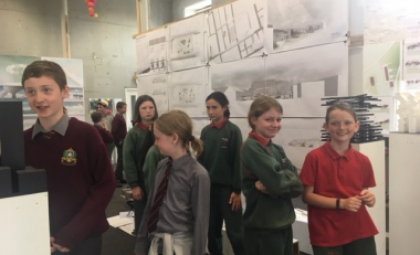 Primary school students experience architecture first hand