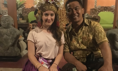 Psychology student volunteers in Bali to aid mental health issues