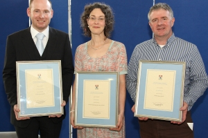 Three staff receive awards for excellence in teaching, and supervision