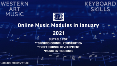 Two short online Music courses announced by WIT