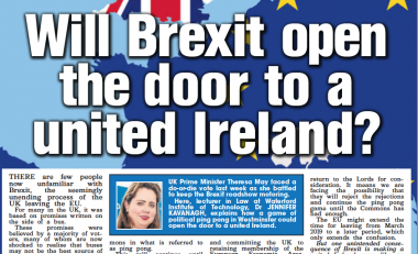 In the news: Will Brexit open the door to a united Ireland?