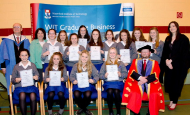 Junior Cert 'A' Students Honoured at WIT