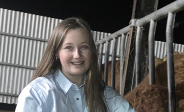 Work placement bursary winner aims to gain new skills in growing dairy industry