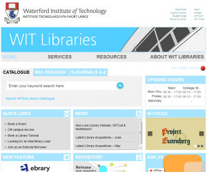 WIT Libraries has unveiled new website & WITCat
