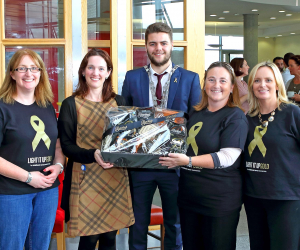 RTÉ Nationwide features WIT's Light It Up Gold for childhood cancer awareness