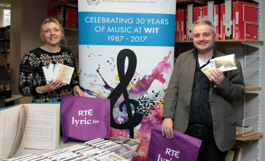 Lyric FM donates CD collection to the BA (Hons) Music programme at WIT