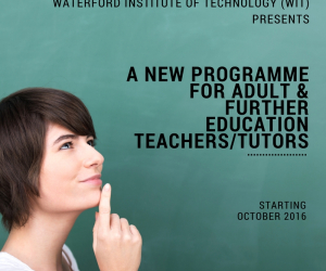 Now enrolling for NEW Higher Cert in Adult & Further Education
