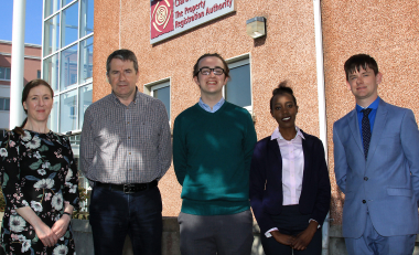 WIT law students gain valuable land law work experience at the PRA