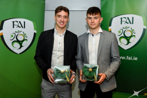 WIT students receive Irish University International Soccer Caps