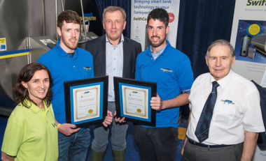 Awards for WIT Ag Science students from Minister at Ploughing Championships