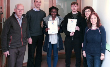 Pharmaceutical science students awarded for research project
