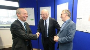 Dr Peter McLoughlin, PMBRC; Prof Mark Ferguson, SFI & Dr Willie Donnelly, Head of Research & Principal Investigator, TSSG