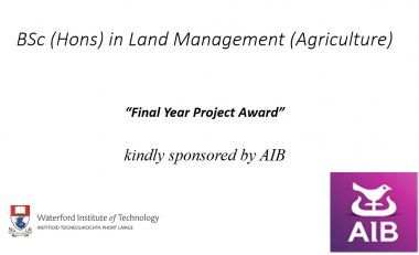 AIB Land Management Final Year Project Award 2019/2020 recipients named