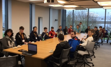 Engineering students visit the Stryker Innovation Centre in Cork