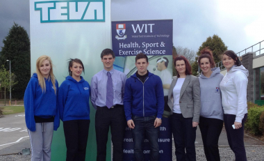 TEVA gets a health check from WIT health promotion students