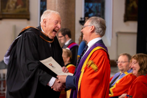 Tom (82) inspires the nation as he graduates from WIT with Arts degree