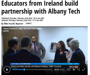 In the news: Educators from Ireland build partnership with Albany Tech