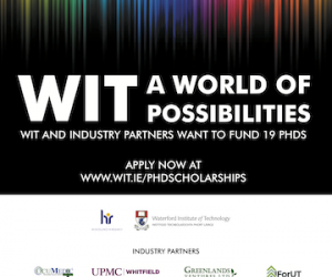 Nineteen new and exciting PhD scholarships announced by WIT