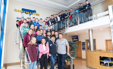 Trip to Tralee gives students insight into how Dairymaster uses technology