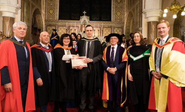 Graduate presented award from Engineers Ireland South East