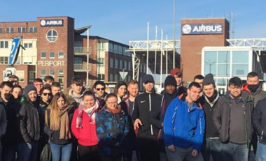 WIT Engineering students explore Hamburg Germany and visit Airbus