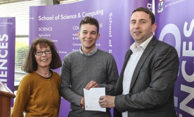 Michael Wins Student of the Year and Best Physics Research Project