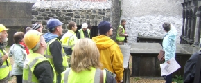 Students from the Department of Architecture at WIT taking part on the joint pilot programme with Kilkenny County Council to restore St. Mary's Hall and transform it