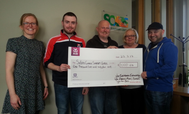 WIT Electronic Engineering Students and Staff Present Quiz Proceeds to Solas Cancer Support Centre