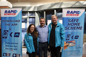 Rapid Cabs and Students' Union team up for 'Get Home Safe' campaign