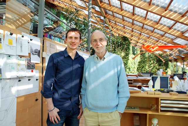 (R-L) World Renowned Architect Renzo Piano (designer of 'The Shard' in London) with WIT Graduate Ronan Dunphy