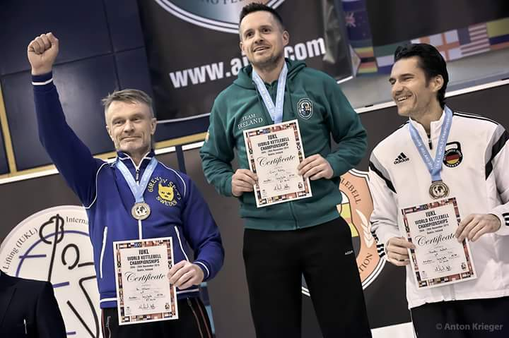 two time European, Pan-American and world champion in kettlebell lifting in the last three years.