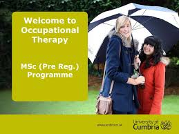 MSc Occupational Therapy - University of Cumbria