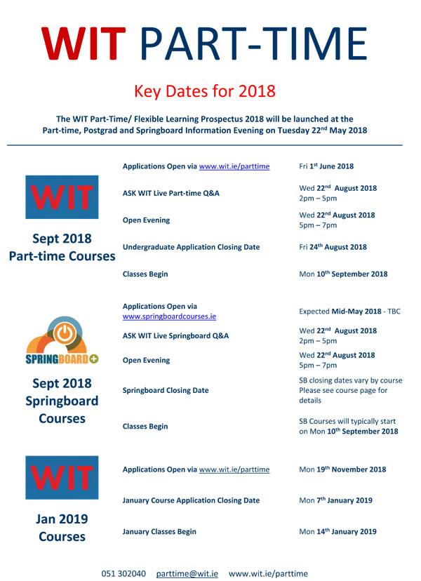 Key Dates 2018/19