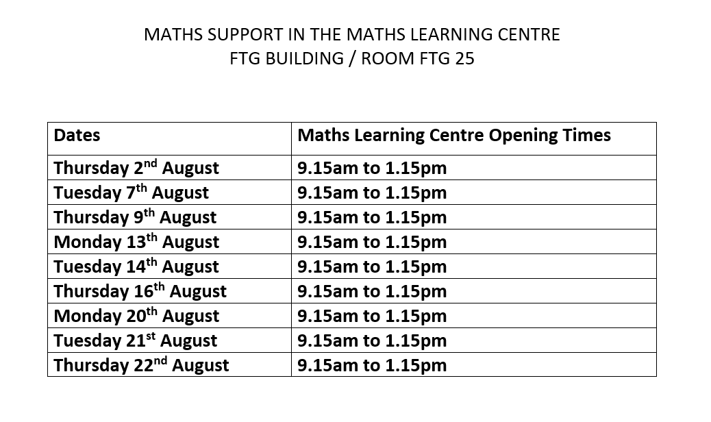 August 2018 MLC Timetable