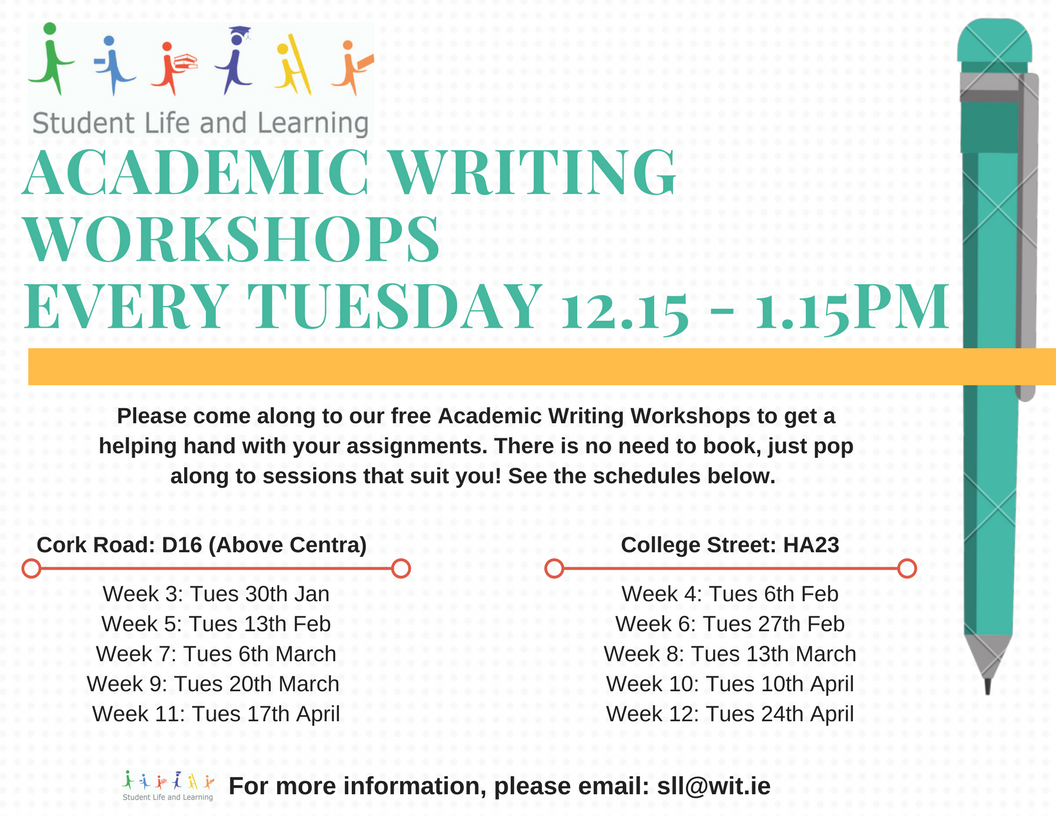 Academic writing workshops detail