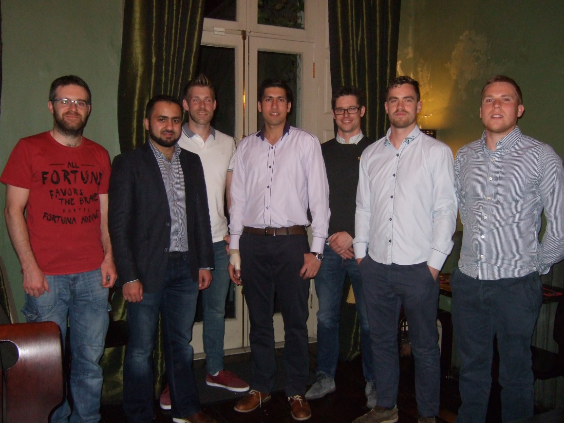 Some graduates of Electronics from 2011, WIT: Gregory Kuhn, Toqeer Akhtar, Frank Roche, Naveen Dhull, Dean Moorehouse, James Gahan, Des Ferguson