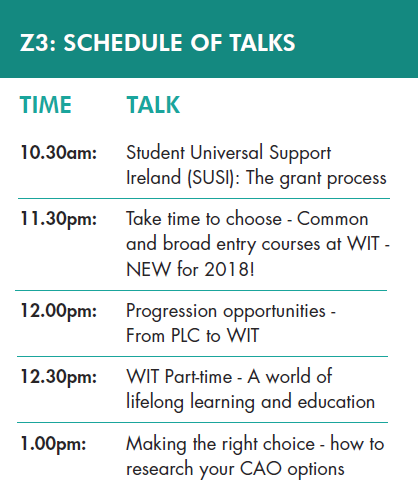 Schedule of talks